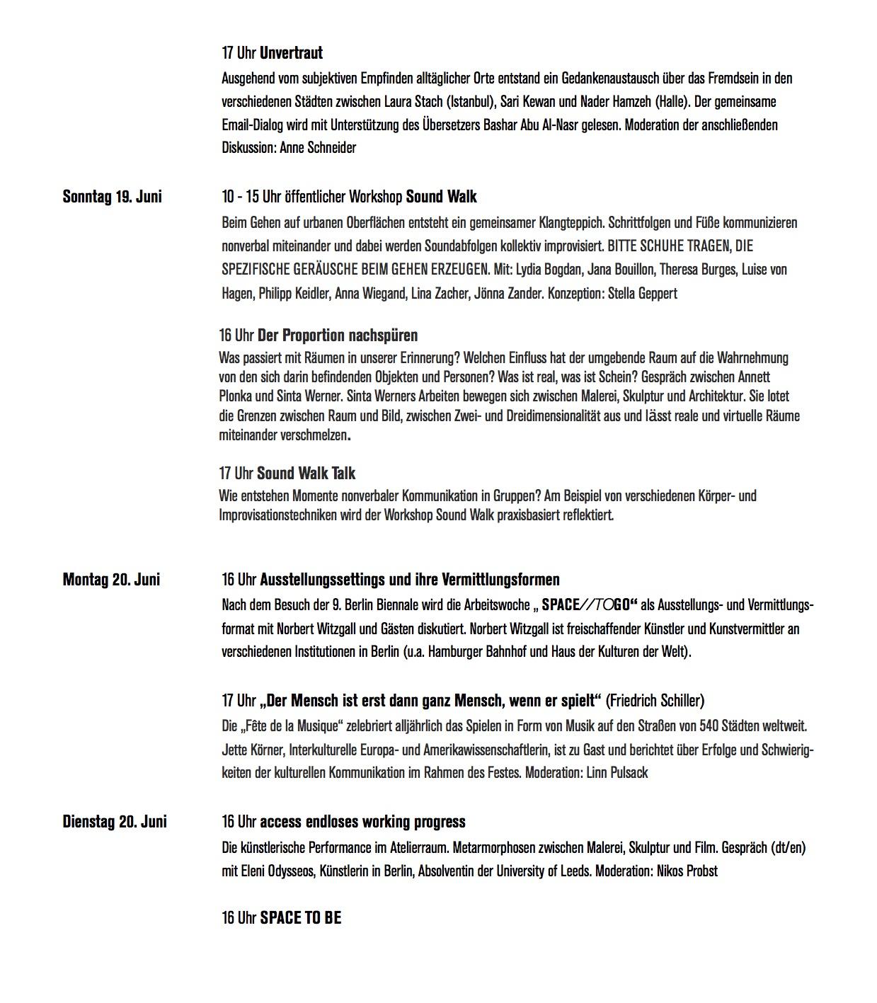 SPACE:TOGO_Programm Seite 2