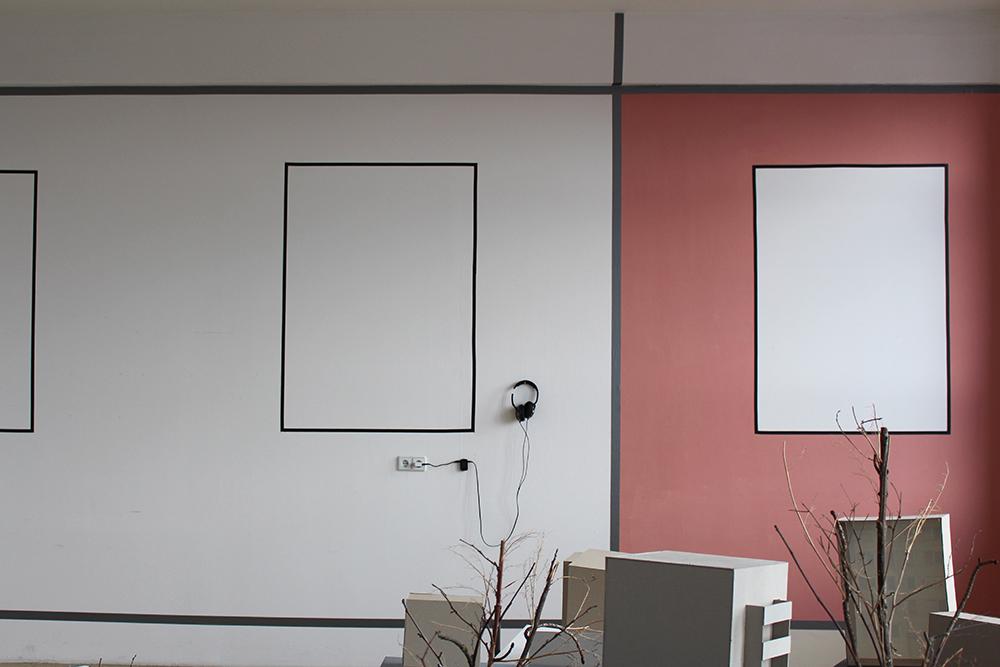 """Wandgestaltung zum Projekt """"Im Aufbruch"""" von Annett Plonka"""