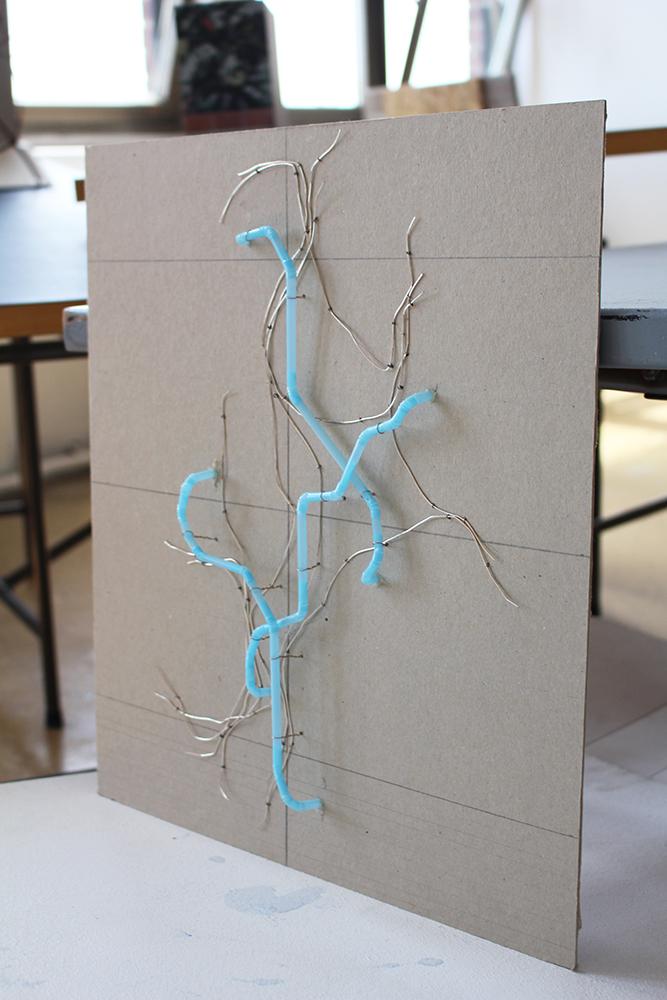 """Das Modell zum Entwurf """"Sie befinden sich hier"""" von Jana Bouillon"""