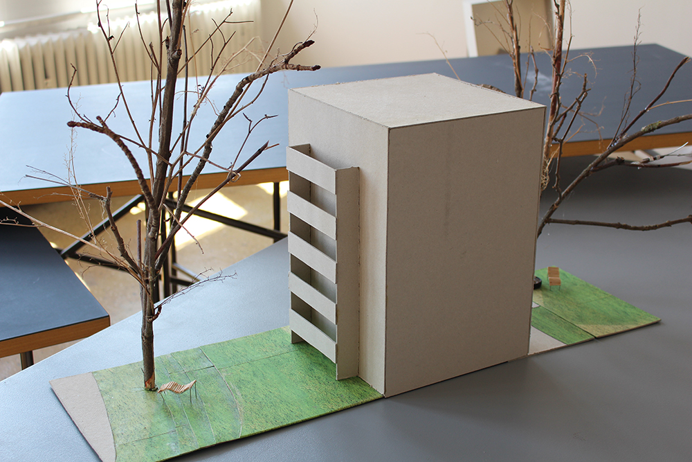 """Das Modell zum Entwurf """"Auf der anderen Seite"""" von Sara Marienfeld"""