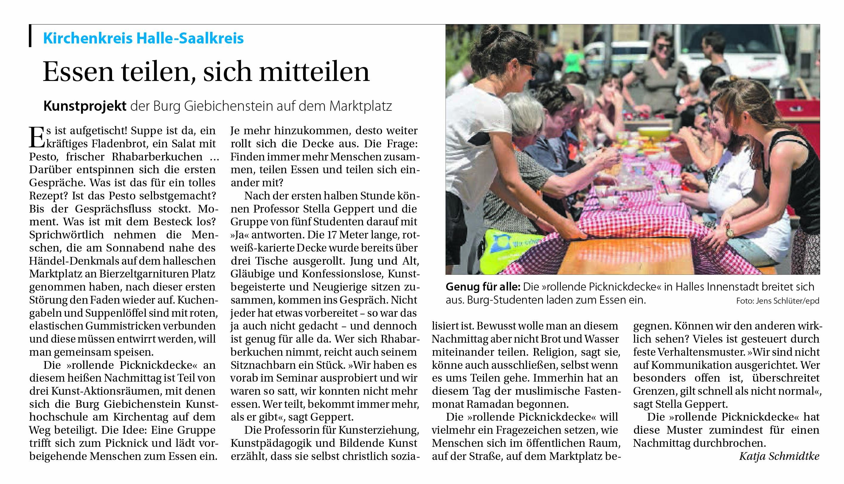 Mitteldeutsche Kirchenzeitung GLAUBE + HEIMAT (Nr. 22 vom 4. Juni 2017, S.8)